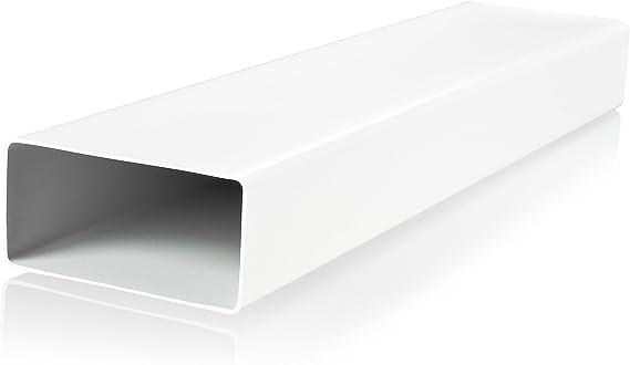 Tuyau d/'a/ération ventilation Canal 55/x 110/mm Longueur 0,5/m en plastique canaux Plat canaux Tuyau d/'/évacuation abluft Canal Hotte Hotte Syst/èmes de Canal Plat 50/cm de long en plastique /à embo/&ici