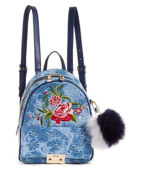 GUESS Varsity Pop Small Backpack Denim Blue: Amazon.es: Zapatos y complementos