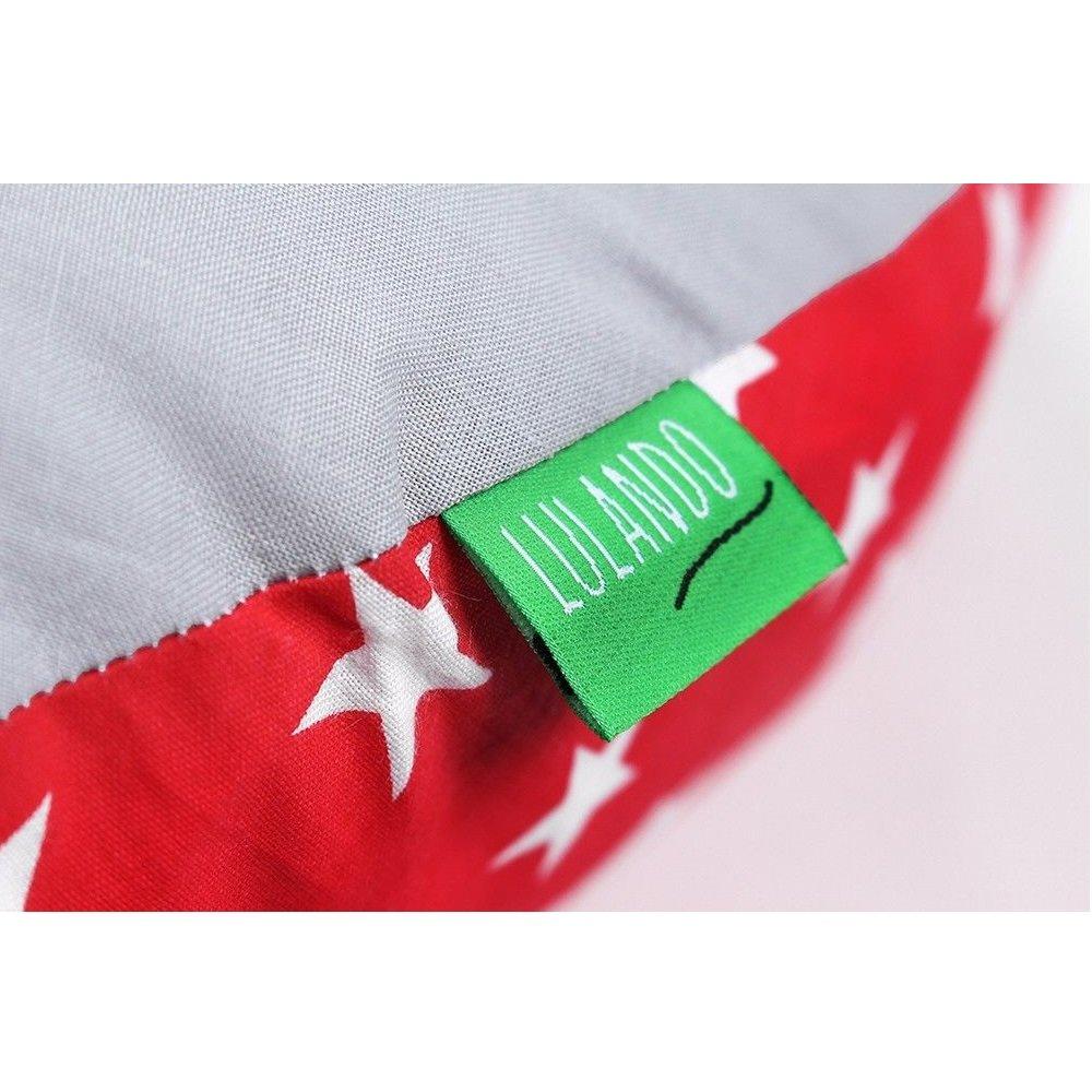 Seitenschl/äferkissen Farbe: White Stars LULANDO Kissenbezug Lagerungskissen aus 100/% Baumwolle Bezug f/ür Schwangerschaftskissen Red//Grey 130 x 60 cm