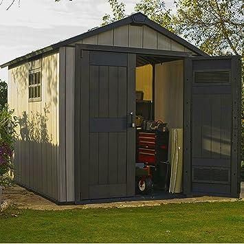 STS Supplies LTD - Caja de almacenamiento para cobertizo de jardín (tamaño grande, plástico