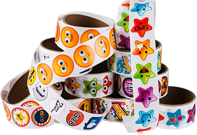 Sticker Roll Zoo Animal Stickers 1.5 In, 1000 Pieces