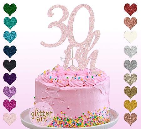 Decoración personalizada para tarta con nombre de 30 ...
