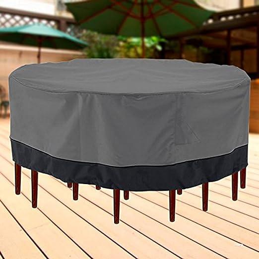 Al aire libre muebles de jardín mesa y sillas, 94 cm de diámetro ...