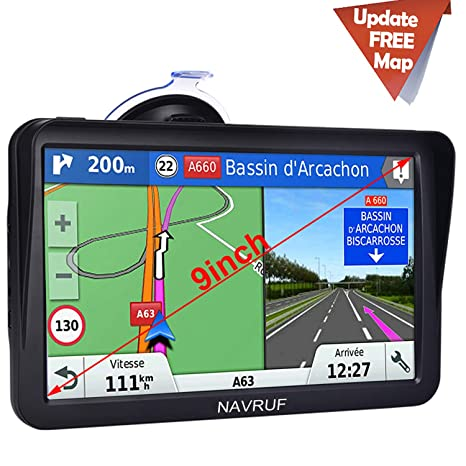 Amazon.com: Car GPS Navigation,9 inch Truck GPS Touchscreen ...