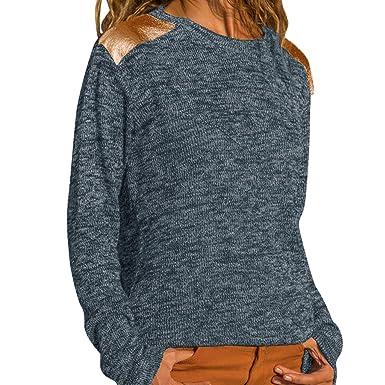 Vectry Rebajas Mujer Camiseta con Manga Larga Camiseta Lisa Blusa De Moda Sudadera Sin Capucha Camiseta Casual: Amazon.es: Ropa y accesorios