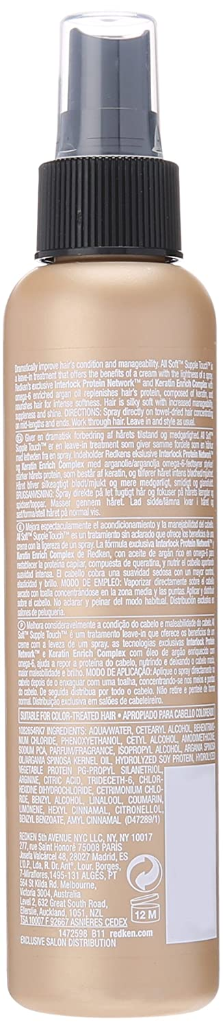 Redken All Soft Supple Touch Spray for Unisex, 5 Ounce