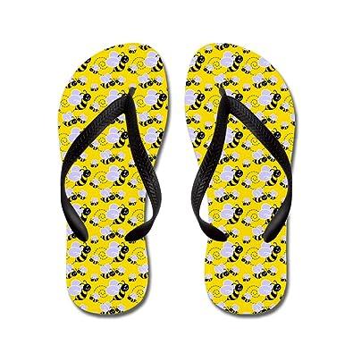 Bumble Bee - Flip Flops Funny Thong Sandals Beach Sandals