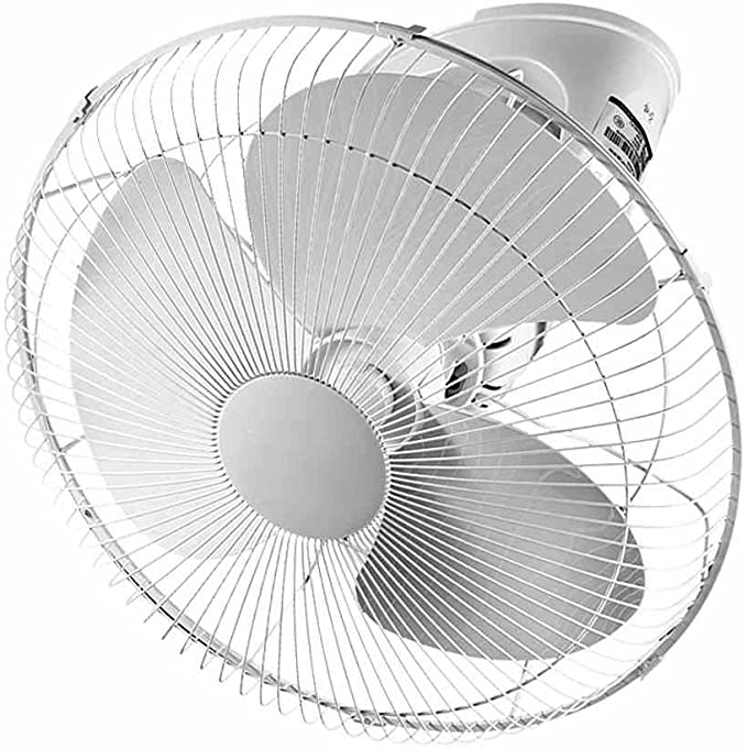LJHA fengshan Ventilador eléctrico Ventilador de Techo de 16 Pulgadas Ventilador Industrial de Sonido silencioso Ventilador Giratorio de 360 ° con Ahorro de energía: Amazon.es: Hogar