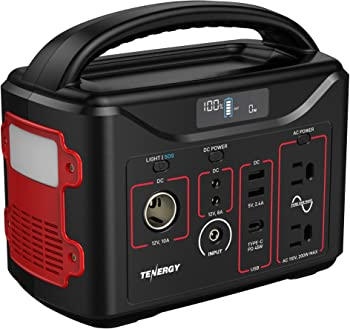 Tenergy 300Wh Battery, 110V/200W(Surge 400W) Portable Power Station