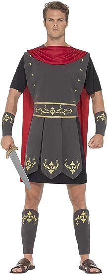 Smiffys Smiffys-45495S Disfraz de Gladiador Romano, con túnica ...