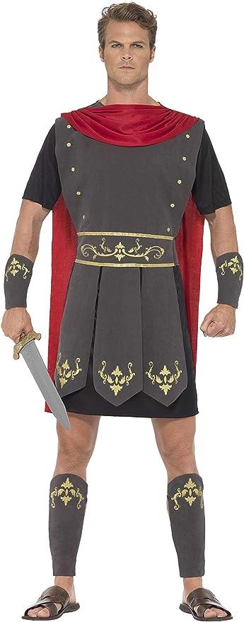 SmiffyS 45495L Disfraz De Gladiador Romano Con Túnica Capa ...