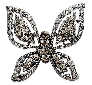 Jodie Rose Crystal Butterfly Brooch D7HWobF0F