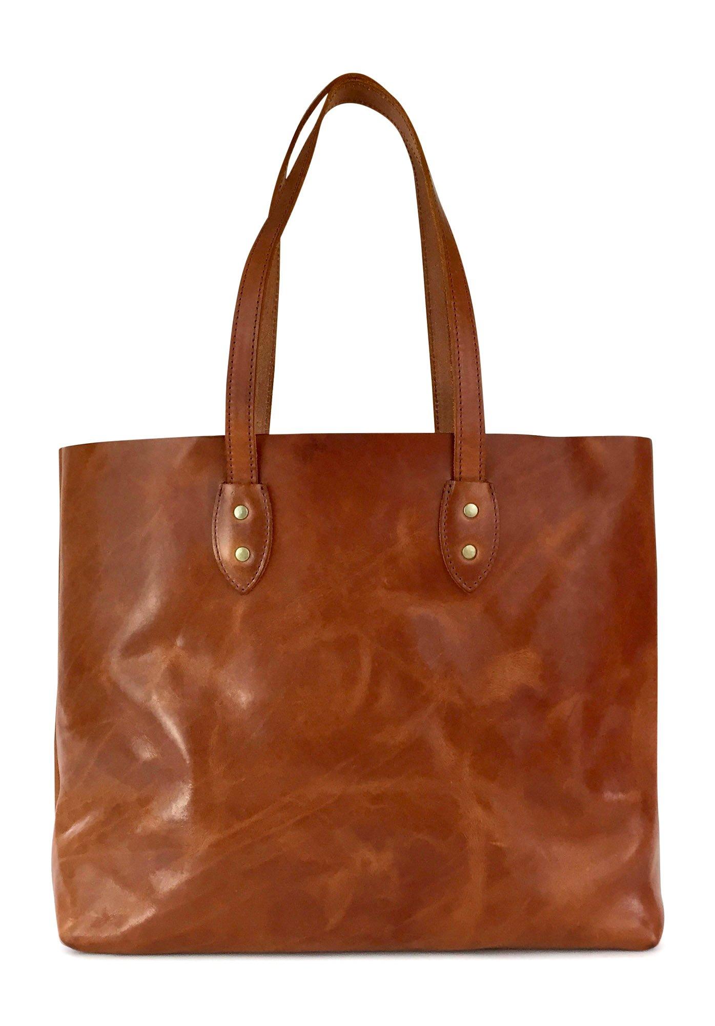 Vintage Leather Tote Bag by Jackson Wayne (Saddle Tan)