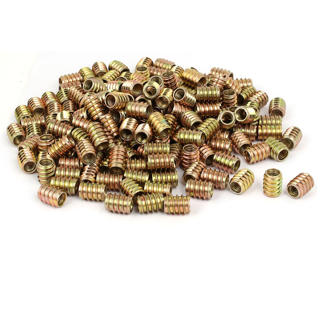 uxcell M8 x 17mm Wood Furniture Insert Screw E-Nut Bronze Tone 300pcs