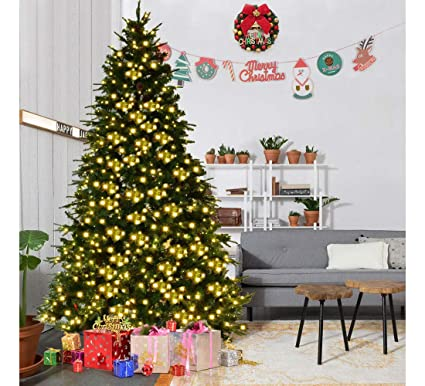 Image Unavailable - Amazon.com: 8Ft Pre-Lit Artificial Christmas Tree Hinged W/ 600 LED