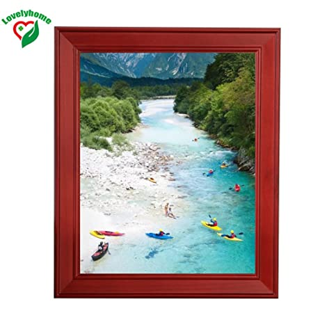 12x16 Inch Wooden Picture Framevintage Picture Framescherry Color