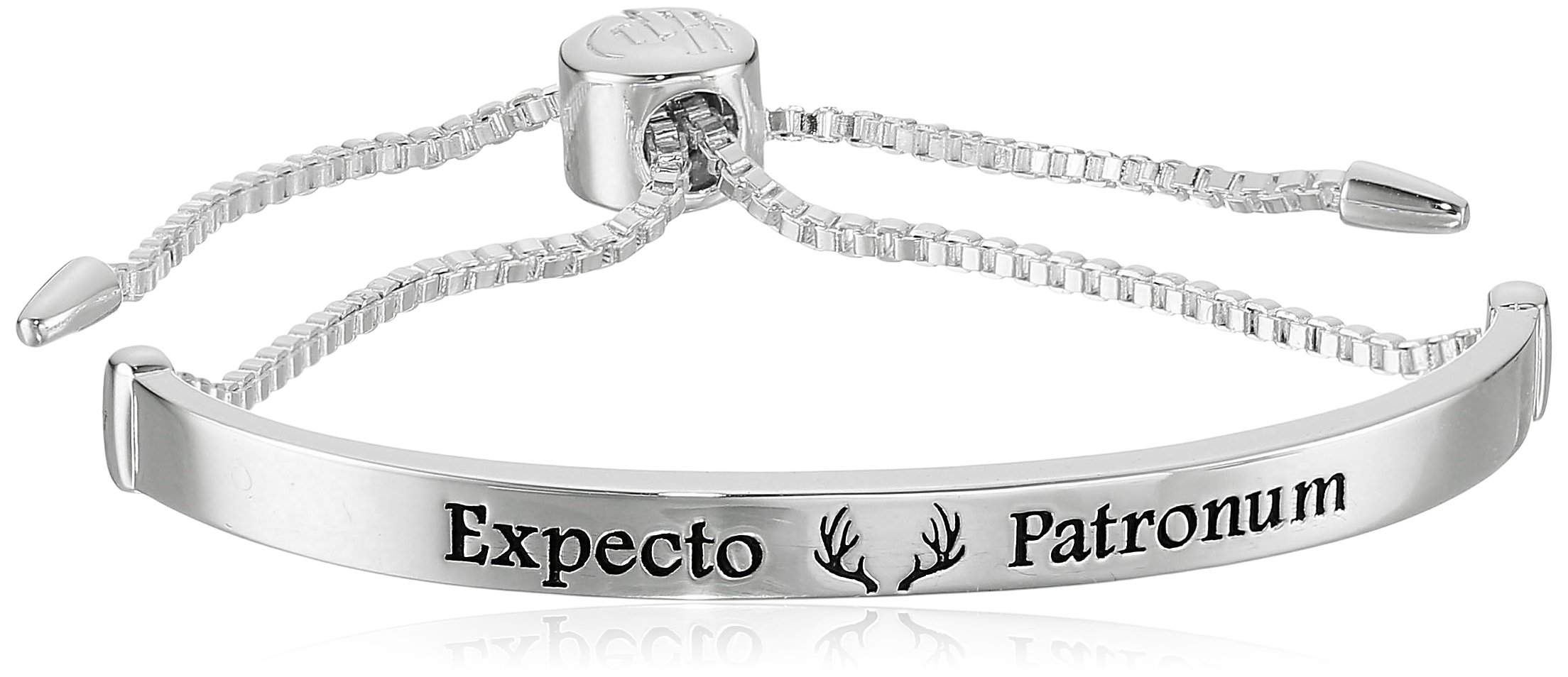 Harry Potter Silver Plated ''Expecto Patronum'' Lariat Silver Bracelet