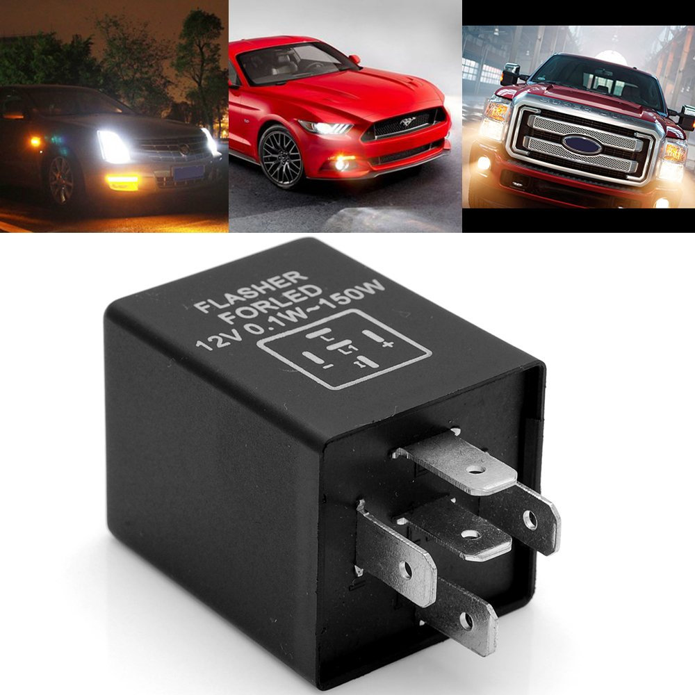 EP27 Hyper Blinking Flash Decoder Load Equalizer LED Turn Signal Flasher  Relay EP-27 12V 0.1W - 150W For Chevrolet Cavalier Dodge Ram 1500 Ford  F150: ...