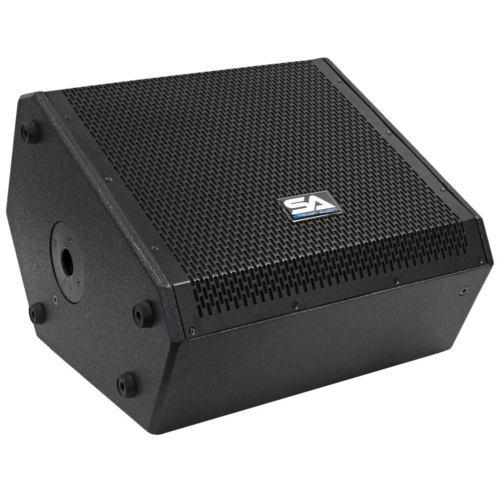 Seismic Audio - SAX-12M - Compact 12 Inch 2-Way Coaxial Floor / Stage Monitor with Titanium Horn - 250 Watts RMS - PA/DJ Stage, Studio, Live Sound 12 Inch Monitor