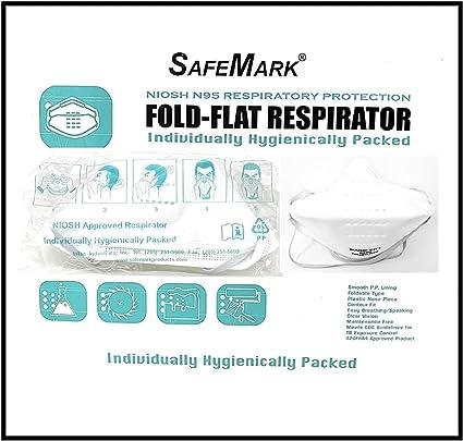 SafeMark N-95 Respirator Cubrebocas N95