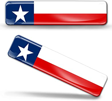 Biomar Labs 2 X Aufkleber 3d Gel Silikon Stickers Texas Usa Texanischem Flagge Fahne Flag Autoaufkleber F 24 Auto