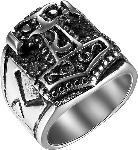 Men Celtic Knot Thor/'s Hammer Stainless Steel Ring Size 7 8 9 10 11 12 13 14 15