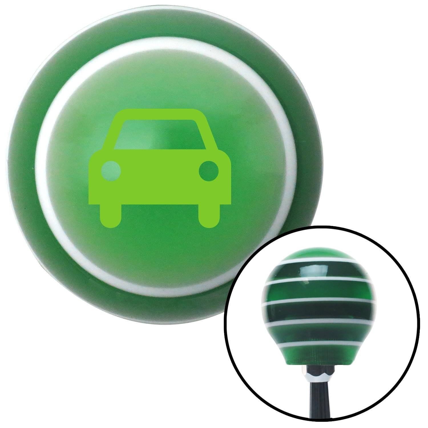 Green Car American Shifter 129458 Green Stripe Shift Knob with M16 x 1.5 Insert