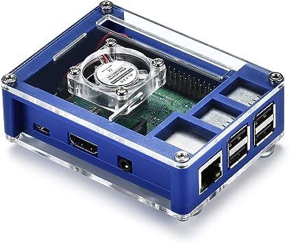 BouBou Carcasa Protectora De Caja Abs Azul 3 En 1 + Ventilador De ...