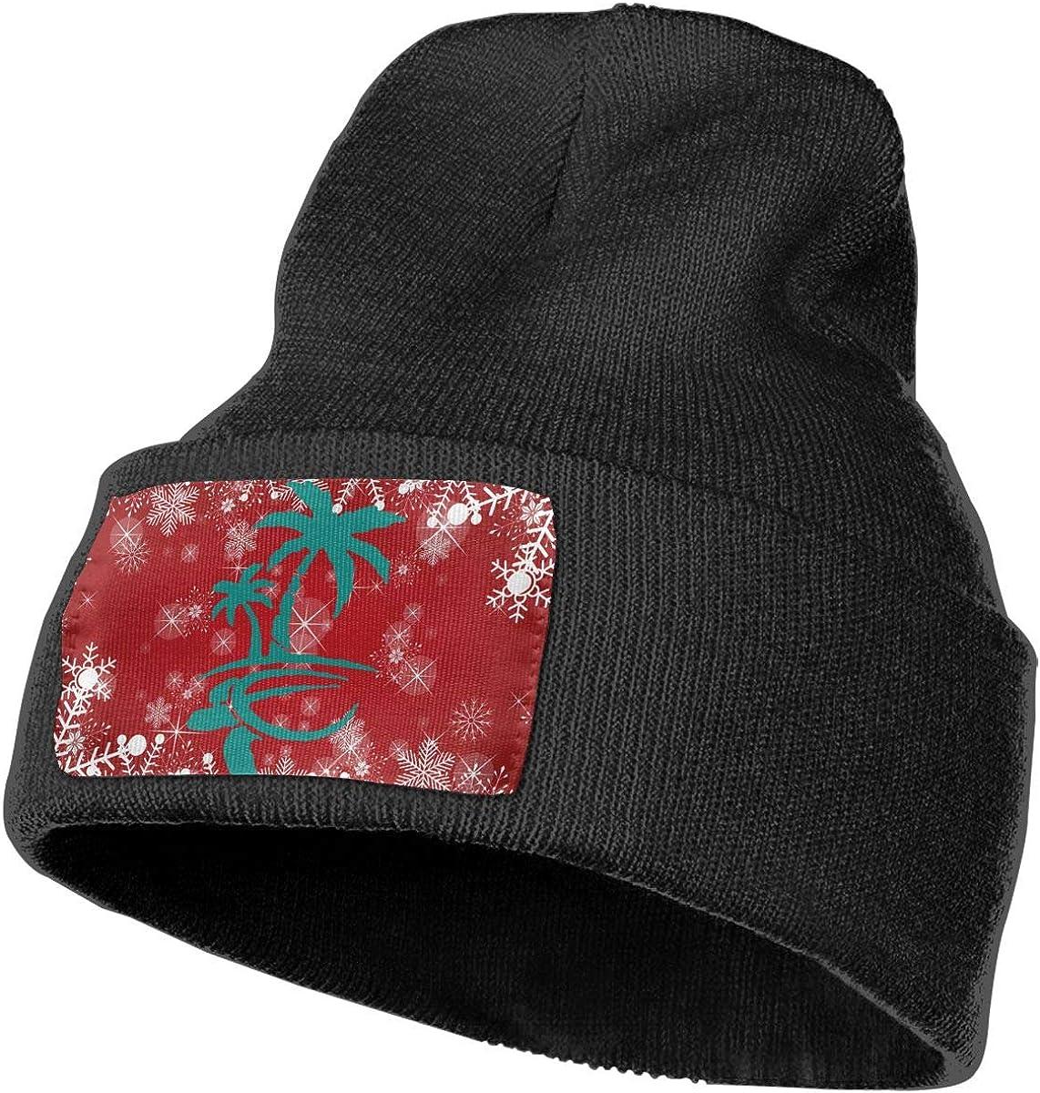 Hawaiian Palm Tree and Sea Turtle Men /& Women Knit Hats Stretchy /& Soft Beanie Cap Hat Beanie