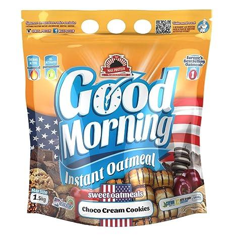 Max Protein - Good Morning Instant Oatmeal, Harina de avena, 1,5kg Choco