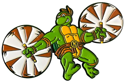 Leaping Michelangelo: Teenage Mutant Ninja Turtles Collectible Pin