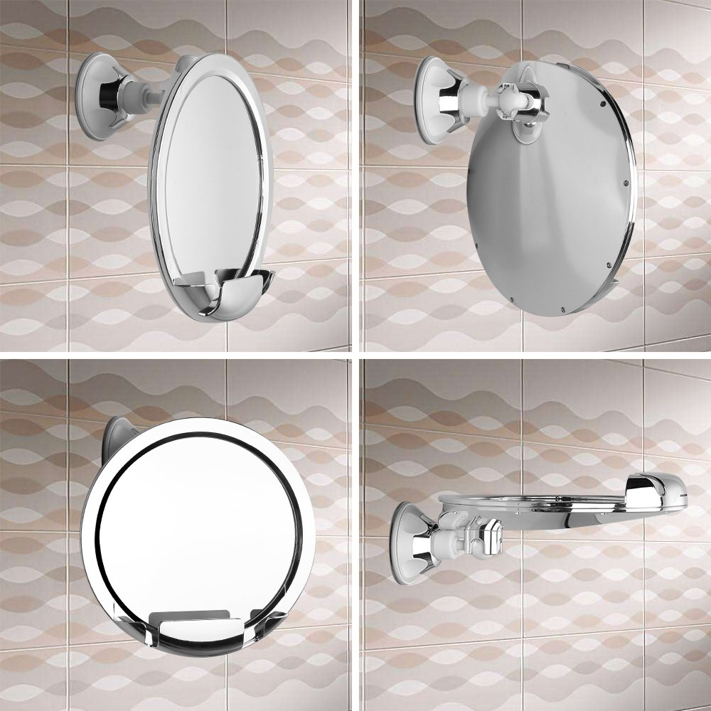 Amazon.com : KEDSUM Fogless Shower Mirror, No Fog Bathroom Mirror ...