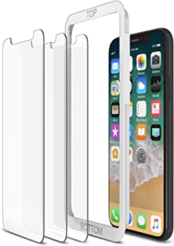 3-Pack of Tethys Tempered Glass iPhone X Screen Protectors
