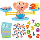 Aitbay Balance Cool Math Game for Toddlers Ages 3-5, Piggy Educational Counting Toys STEM Preschool Number Learning…