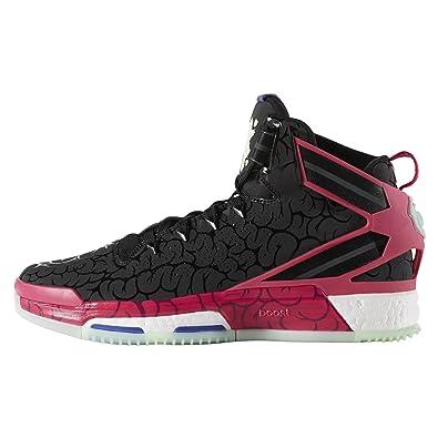 abc8c9667187 adidas D Rose 6 Boost Core Black Bold Pink Frozen Green F15