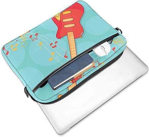 Lurnies Cartoon Gitarre Note Computertasche Einzigartig gedruckt Kompatibel mit 13 13 3 Zoll MacBook Pro MacBook Air Notebook 28x36 8x3 cm
