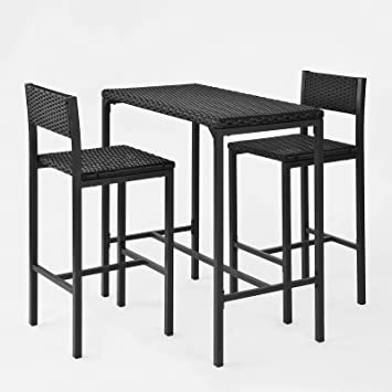 SoBuy® OGT07-Sch Salon de jardin Ensemble table de jardin + 2 ...