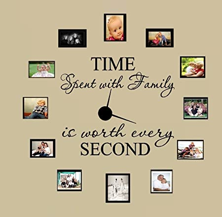 Time Spent with Family Is Worth Every Second Wall Sticker Clock Decoration UK