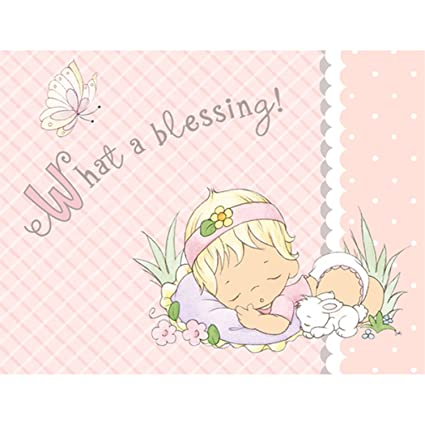 Precious Moments Baby Shower Thank You Notes   Baby Girl Baby Shower Thank  You Notes