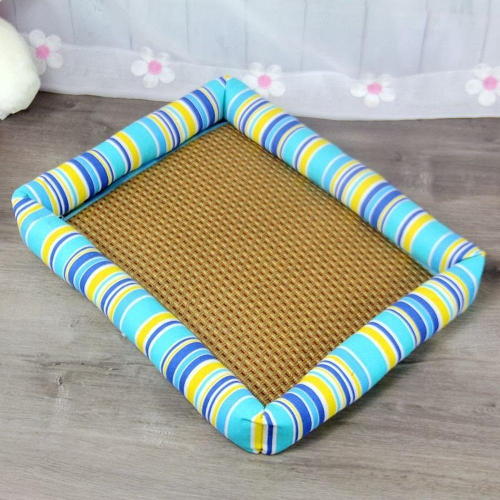 A 4535cm A 4535cm YunYilian Pet Bolster Dog Bed Comfort Breathable Pet nest (color   A, Size   45  35cm)
