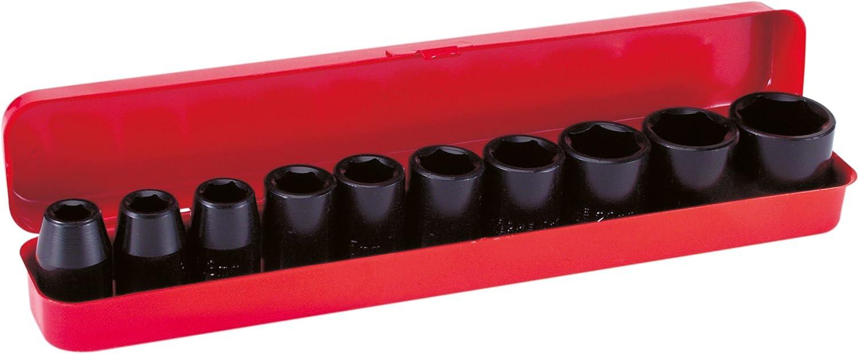 Mecafer 153188 Set de 10 vasos para llave de impacto de 1/2