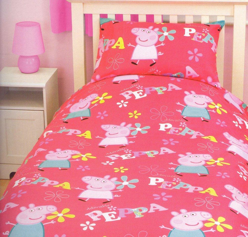 funda nordica peppa pig adorable cama edredon sabanas ropa decor ninos infantil amazones hogar