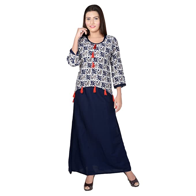 Amazon.com: Metro moda elegante indio túnica larga parte ...