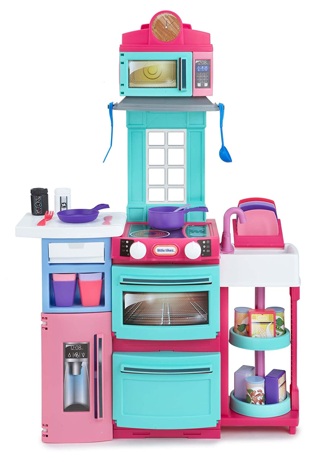 Amazon.com: Little Tikes Cook \'n Store Kitchen Playset - Pink: Toys ...