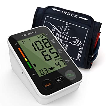 TEC.BEAN Tensiómetro de Brazo Monitor de presión arterial digital ...