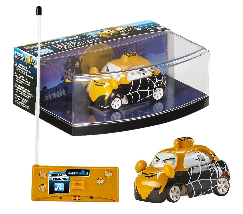 Revell Control 23538 - Mini RC Car Vampir - ferngesteuertes Auto mit 27 MHz Fernsteuerung, Flexible Antenne, Einfache handliche Steuerung für Kinder, Robustes RC Auto, Aufladbar über Fernbedienung Revell_23538