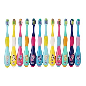 MyLittlePony Kids Toothbrush for 3-6 Years Children Assorted Colors 12 PACK