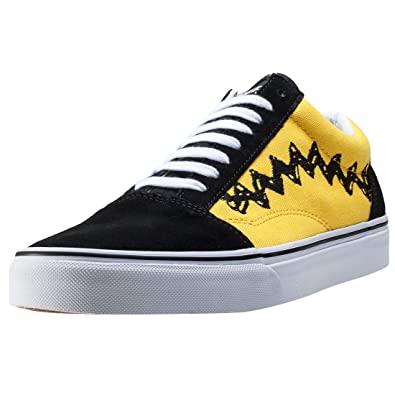 vans black and yellow