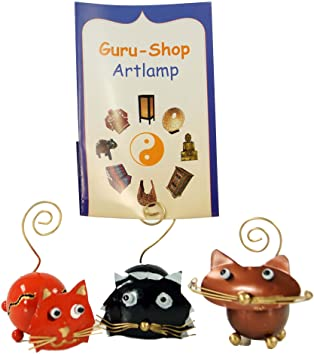 2fe3ca3ca4df16 Guru-Shop Photo Holder Cat, Black, Metal, Color: Black, Picture Frames:  Amazon.co.uk: Kitchen & Home
