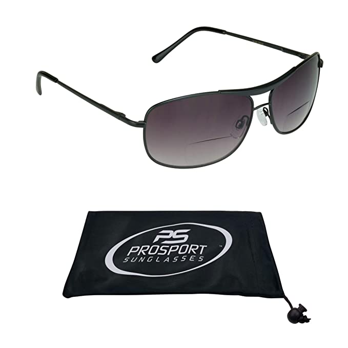 5c19433f78 Image Unavailable. Image not available for. Color  proSPORT Aviator Bifocal  Sunglasses ...